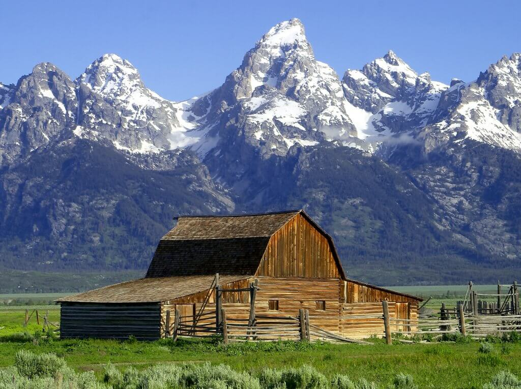 Teton Range der Rocky Mountains