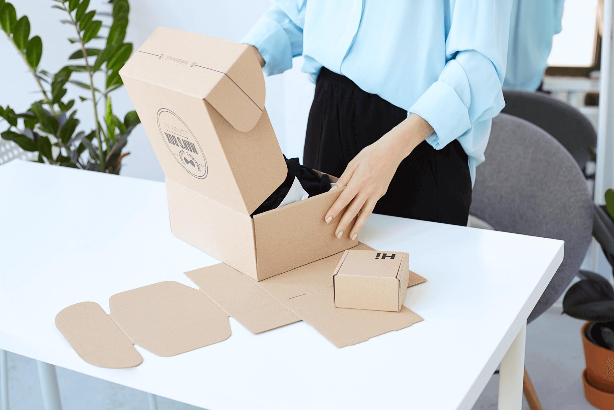 pudełka fasonowe eco